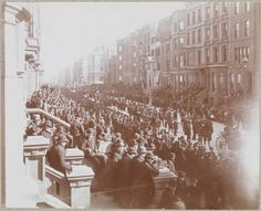 St. Pat's parade in 1895. - Long before green beer was poured and livestreaming the action on your laptop was a possibility, the St. Patrick's Day Parade took over the Manhattan streets in a much more... civil way. The first parade happened on March 17th, 1762, and has been held for the past 248 years in honor of the Patron Saint of Ireland and the Archdiocese of New York.