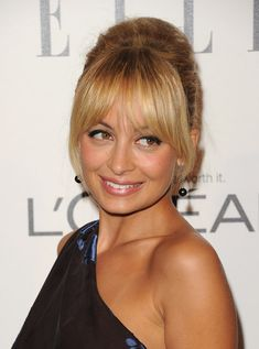 Nicole Richie Hair - 1960s with frosted lips and eye liner
