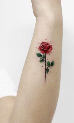 beautiful rose tattoo © Deborah Genchi