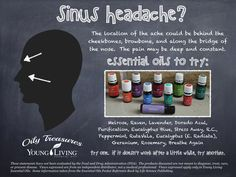 Sinus Headache relief with essential oils #oilyfamilies #youngliving