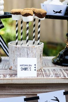 Modern Outdoor Man Birthday Party via Kara's Party Ideas KarasPartyIdeas.com Cake, printables, decor, favors, banners, cupcakes, and more! #modernparty #outdoorparty #karaspartyideas (17)