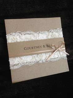 homemade rustic wedding invites - Google Search