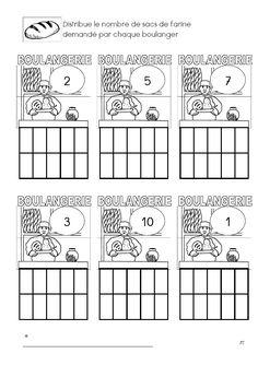 Teken het juiste aantal zakken bloem / compter sac farine Preschool Lessons, Pain, Diagram, Bread, Blog, Crafts, Preschool, Flour Sacks, Bricolage
