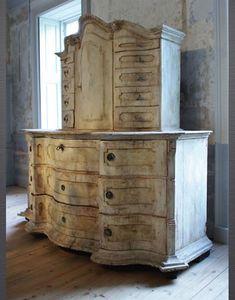 swedish painted cupboard