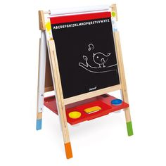 Janod Splash Adjustable Easel a perfect 2 sided creation station for the budding young artist. Tableau Double Face, Wipe Board, Kids Activities At Home, First Birthday Presents, Marker, Art Easel, Wooden Easel, Shape Puzzles, Painting Plastic