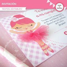 Bailarina: invitación para imprimir
