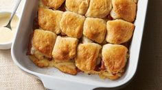 A twist on classic sliders, these stuffed biscuits are filled with turkey, bacon and Swiss cheese for a perfect appetizer at your next gathering, or a fun meal for the whole family.