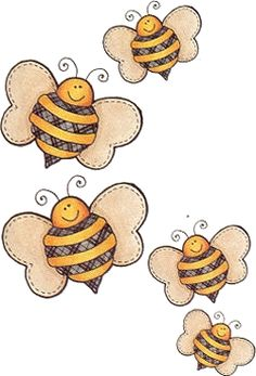 Arte Country, American Country, Bee Drawing, Drawing For Kids, Honey Logo, Bee Cards, Quilting Templates, Cute Bee, Decoupage Vintage