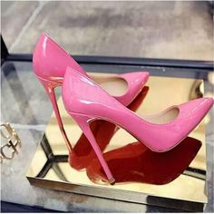 Shoes Woman High Heels Pumps Tacones Pointed Toe Stilettos Talon Femme Sexy Ladies Wedding Shoes Black Heels Big Size 35 Women's Vulcanize Shoes from Shoes on AliExpress High Heel Pumps, Rosa High Heels, High Heels Boots, Pink High Heels, Pointed Toe Pumps, Womens High Heels, Hot Pink Heels, Black Heels, Pink Louboutins