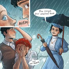 Comic Style Art, Comic Styles, Anne Shirley, Supergirl, Anime Witch, Gilbert And Anne, Anne White, Harry Potter Puns, Gilbert Blythe