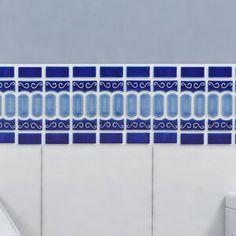 EliteTile Emilia Porcelain Mosaic tile in Cobalt Blue Ceramic Mosaic Tile, Mosaic Wall, Mosaic Glass, Wall Tiles, Backsplash Tile, Glass Brick, Glass Installation, Blue Tiles, Blue Mosaic