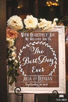 Most Popular Wedding Signs ❤ See more: http://www.weddingforward.com/popular-wedding-signs/ #weddings