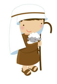Imagens para imprimir, recortar e montar fantoches para contar a história do nascimento de Jesus. Esses fantoches p...
