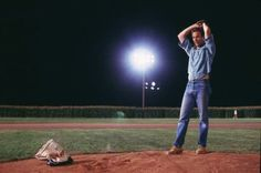 Field Of Dreams Kevin Costner Floodlit Baseball Field Iconic Poster Or Photo & Garden Kevin Costner, Baseball Movies, Baseball Pics, Field Of Dreams, Movie Collection, Chicago White Sox, Movie Characters, My Guy, New York Yankees