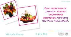 En el mercado de Jamaica, puedes encontrar hermosos arreglos frutales para mamá. SAGARPA SAGARPAMX #MéxicoAgroPotencia