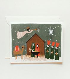 Nativity Card from Rifle Paper Co - framing for seasonal art