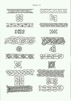 Norse knotwork, if i got a Viking tattoo then these would be good borders Viking Designs, Celtic Designs, Celtic Symbols, Celtic Art, Celtic Knots, Mayan Symbols, Celtic Dragon, Egyptian Symbols, Ancient Symbols