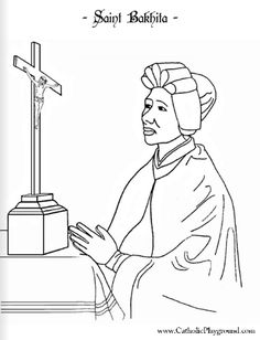 saint bakhita coloring page