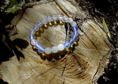 Gemstones bracelet / Moonstone bracelet / Beaded by RetroBicycle, €12.00