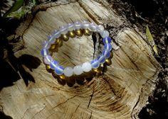 Gemstones bracelet / Moonstone bracelet / Beaded by RetroBicycle, €12.00