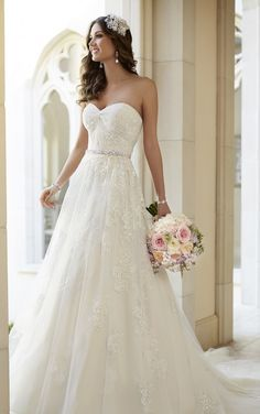 5968 Vintage Inspired A-Line Wedding Dress by Stella York