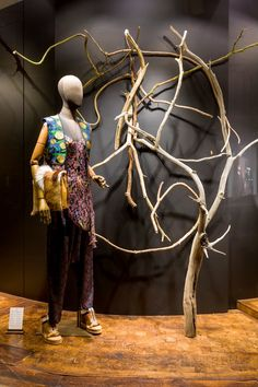 """DRIES VAN NOTEN,introducing Spring/Summer, """"Remember Nathalia,.....a chip on the shoulder is a sure sign of wood higher up"""", pinned by Ton van der Veer"""