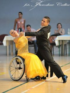"""Newest Totally Free Alex and Jacqueline Glijn, wheelchair dance in Lomianki Poland. Beli…""""> Dance and movement therapy has become an intrinsic part of several day-care f Shall We Dance, Lets Dance, Gala Dresses, Latin Dresses, Dance Art, Dance Pics, Group Dance, Tango Dance, Dance The Night Away"""