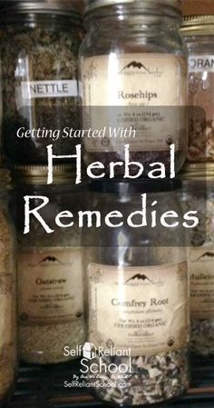 Getting started with herbal remedies - the first of a series. Includes free pdf downloads. #beselfrelaint