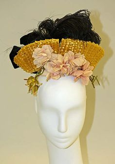 Hat, 1890, French, made of silk and straw.