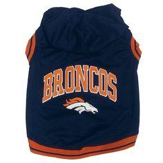 Denver Broncos Nfl Football Dog Hoodie At HotDogCollars.com!