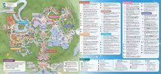 Disney maps, including pressed penny locations, transportation, resort, theme park and waterpark maps!