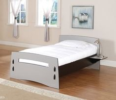 Modern Twin Bed.  Love this for my girls!