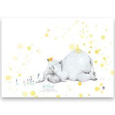 Bilde av Födelsetavla - Elefanten och bi