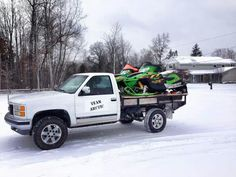 Time to unload? #snowmobiling