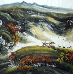 Page 3 Buy Chinese landscape paintings from China & World's Largest Online Chinese Painting Gallery. Asian oriental landscape paintings for sale. Chinese Landscape Painting, Chinese Painting, Landscape Paintings, Chinese Mountains, China World, Mountain Paintings, Painting Gallery, Paintings For Sale, Art Tutorials