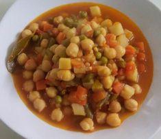 Garbanzos con verduras. Un plato sano y rápido que os encantará.