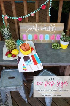 DIY Ice Pop Hand-Painted Sign with Americana Premium Acrylic Paint