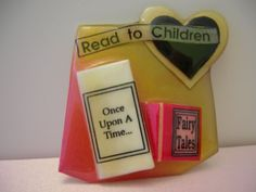 Book+Pins+by+Lucinda+Read+to+Children+with+Heart+and+Fairy+Tales+Brooch+Retro+#Lucinda