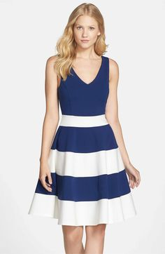 30200b3f7d81 Felicity   Coco Joice Sleeveless Fit   Flare Dress (Regular   Petite)( Nordstrom Exclusive)