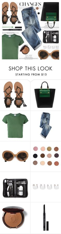 """Lace Up Flat Sandals"" by jiabao-krohn ❤ liked on Polyvore featuring Billabong, Mulberry, RE/DONE, Wrap, Prada, Royce Leather, Maison Margiela, Bobbi Brown Cosmetics, Christian Dior and croptop"