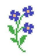 Wildflower cross stitch. |