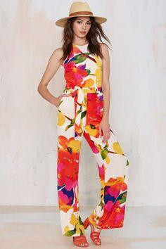 Yumi Kim Joyce Silk Jumpsuit
