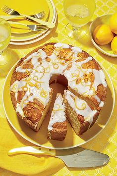 Lemon-Vanilla Pound Cake with Lavender Glaze Recipe