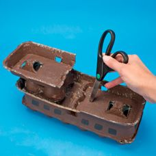 Set sail on this awesome pirate ship made from recycled egg cartons! Craft Activities For Kids, Toddler Activities, Crafts For Kids, Arts And Crafts, Egg Carton Art, Egg Cartons, Pirate Ship Craft, Skinny Sticks, Craft Projects