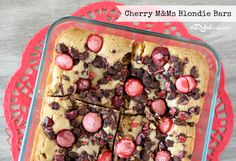 M blondie bars - just in case you needed an excuse to buy some M!