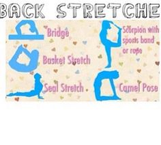 Back stretches for cheer dance or gym!