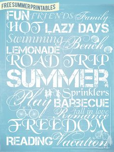 Free Summer Printables From Kim at KLM Photography & Design — MeeganMakes