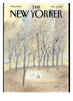 The New Yorker Cover - November 1999 Poster Print by Jean-Jacques Sempé at the Condé Nast Collection The New Yorker, New Yorker Covers, David Hockney, Autumn In New York, Driftwood Art, Find Art, Framed Artwork, Vintage Photos, New York City