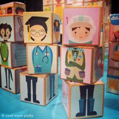 Attatoy Mixmates Blocks: Great, non-stereotypical depictions of girls and boys.