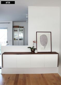 """DIY - """"Fauxdenza"""" Side board using IKEA Akurum Wall Cabinets - Full Tutorial-use as buffet area in dining room"""